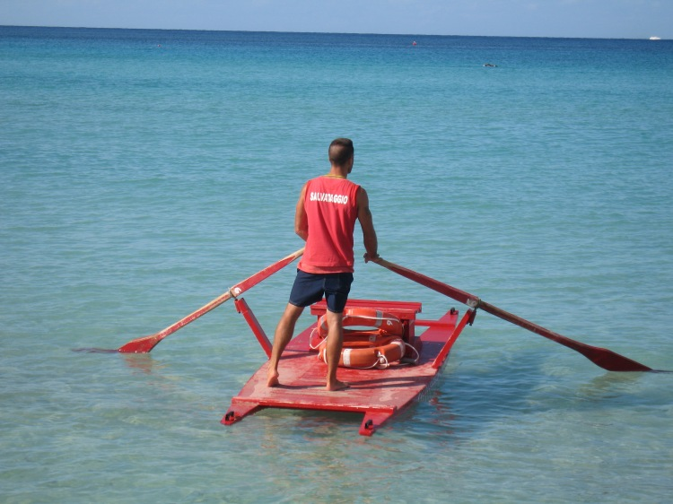 Mondello beach, life guard